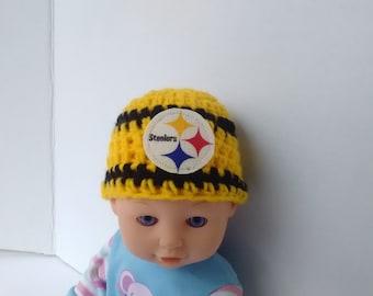 Pittsburgh Steelers inspired preemie hat micro preemie 225bcc320