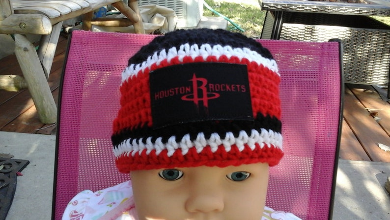 861e6508827d3e Houston Rockets inspired baby hat toddler hat winter hat | Etsy