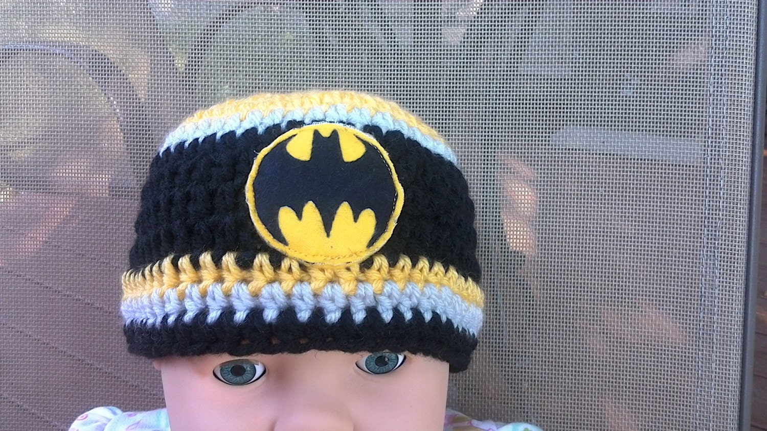 974206dbae1 Batman baby hat toddler hat winter hat warm hat NFL hat
