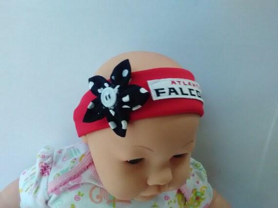 a1889af0c0331 Atlanta Falcons inspired baby headband toddler headband