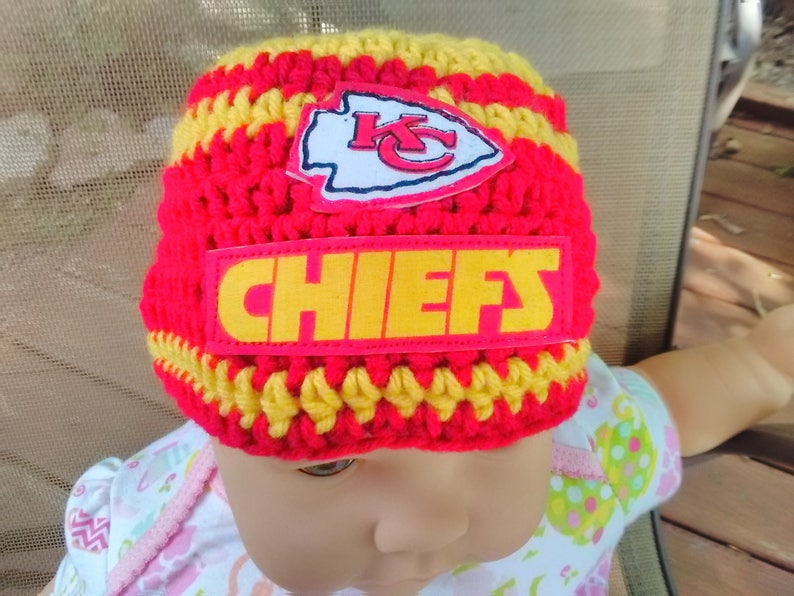 4ce90c4dc972f1 Kansas City Chiefs inspired baby hat toddler hat winter hat   Etsy