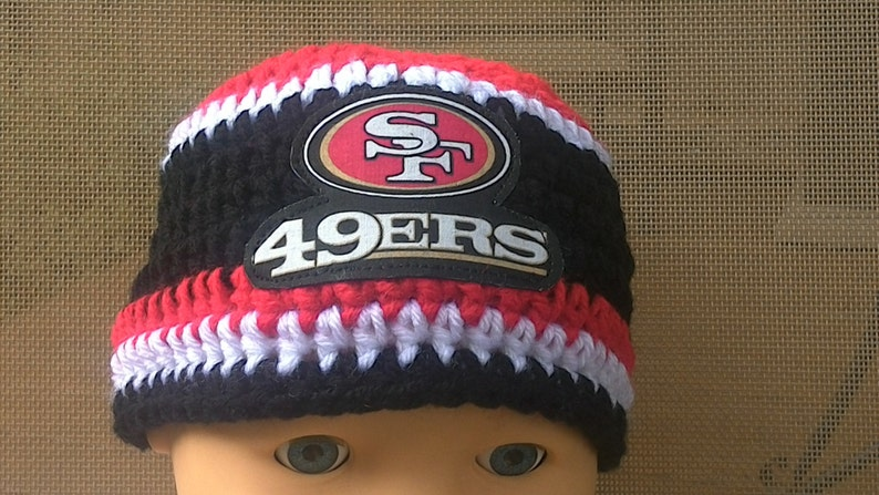 9829a41ef99 San Francisco 49ERS inspired baby hat toddler hat winter