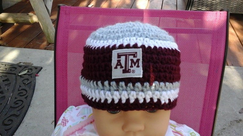 4a196768ac1a0 Texas A M inspired baby hat toddler hat winter hat