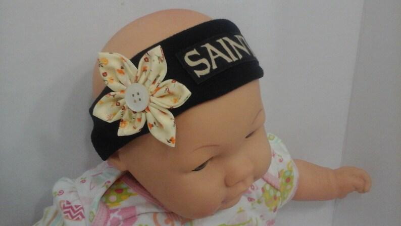 New Orleans Saints  Inspired   baby headband toddler headband winter headband