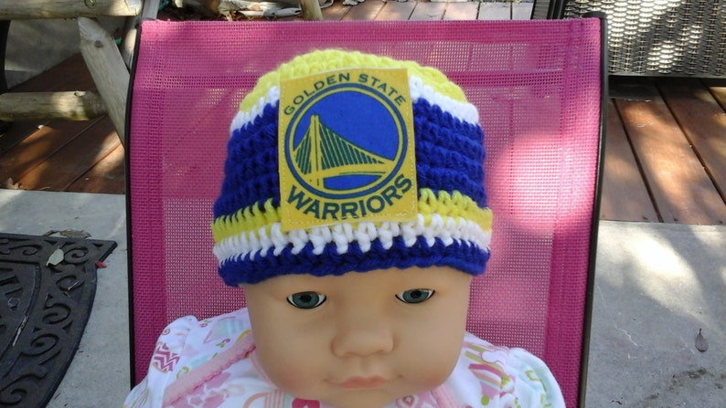 3993e2462ece19 Golden State Warriors inspired baby hat toddler hat | Etsy
