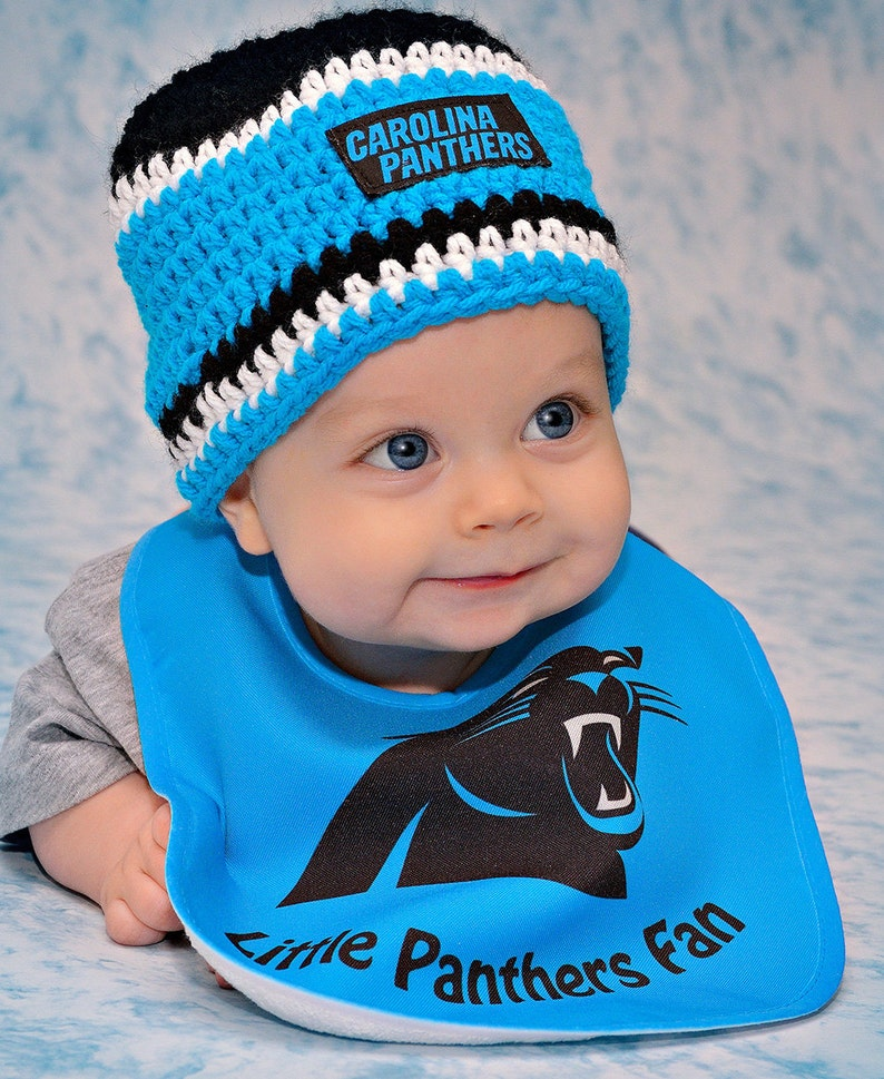 f14043cbb Carolina Panthers inspired baby, toddler hat, winter hat, warm hat,,  newborn photo prop, baby shower gift