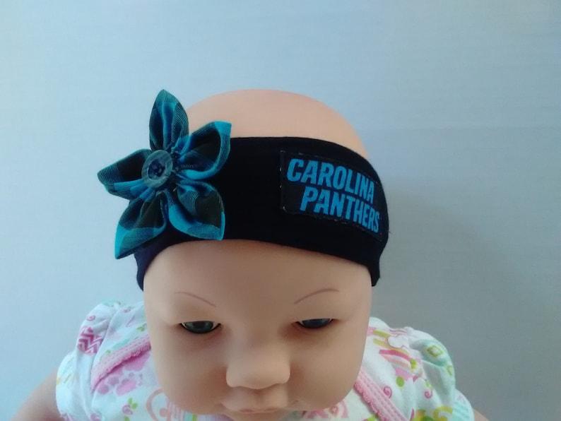 3a59d7abd Carolina Panthers Inspired baby headband toddler headband winter headband