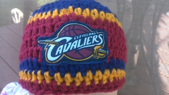 Cleveland Cavaliers inspired baby hat toddler hat winter  18f8a2dd0c2