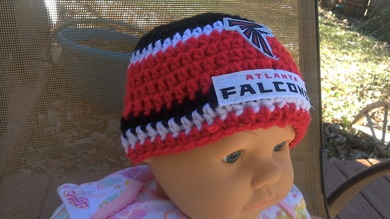 7af8dbd0241ef Atlanta Falcons inspired baby hat toddler hat winter hat