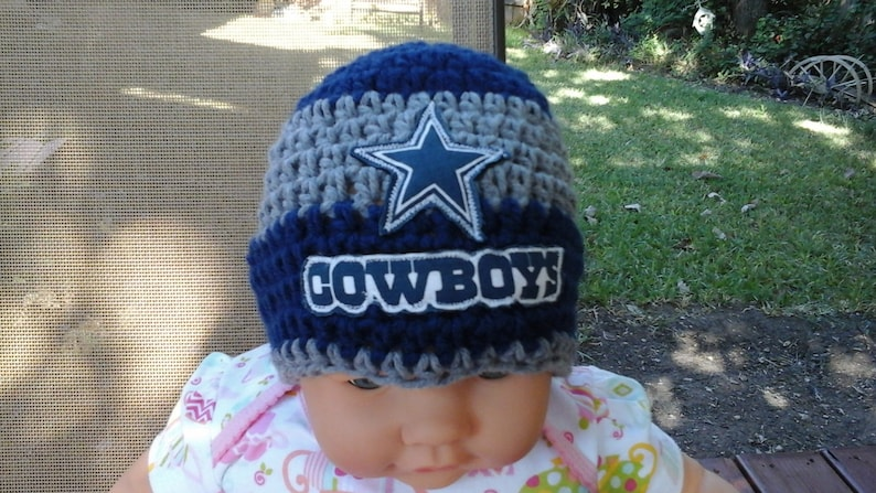 ac4ac300bcca9 Dallas Cowboys inspired baby hat toddler hat winter hat