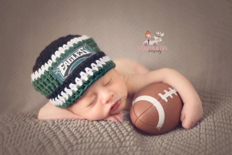 b329f60ce10c1 Philadelphia Eagles inspired baby hat toddler hat winter