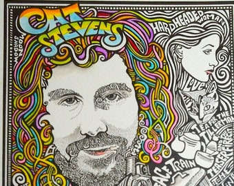 Cat Stevens Poster by Posterography