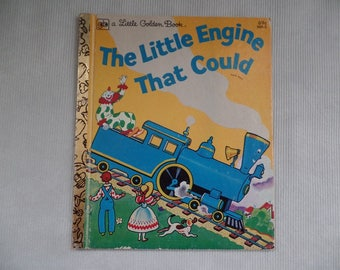 Vintage The Little Engine That Could, Little Golden Book, Children's/ Kid's Train Storybook, Retold by Walter Piper, 1979 Edition