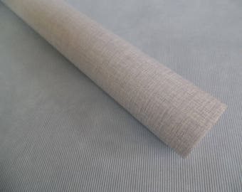Vintage Wallpaper, Partial Roll, Vintage 15.5' Remnant, Blue Grey Crosshatch, Dollhouse Supply, Neutral Scrapbook Paper