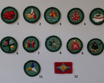 Girl Scout, Brownie Badge, Patch, Honor, Vintage 1960s 1970s Awards, Collectible 60s 70s