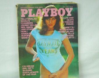 June 1977 PLAYBOY Magazine - MATURE CONTENT - Playmate of the Year - James Bond Women - Le Car - Hugh Hefner - 18-11