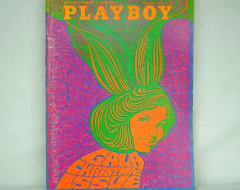 December 1967 PLAYBOY Magazine - MATURE CONTENT - Gala Christmas Issue - Art Nouveau Erotica - Don Lewis Girl - Elke Sommer - 18-10