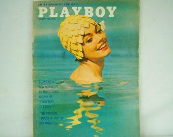 August 1962 PLAYBOY Magazine - MATURE CONTENT - Vargas Girl - Hugh Hefner - 60s Cannabis Article - Sexual Revolution - Sigmund Freud - 18-09