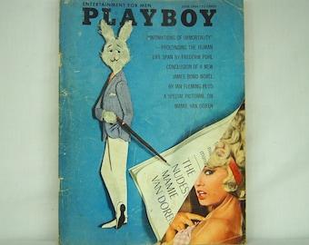 June 1964 PLAYBOY Magazine - MATURE CONTENT - Playmate of the Year - Playboy Copenhagen - Hugh Hefner - Vargas Girl - 18-14