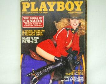 October 1980 PLAYBOY Magazine - MATURE CONTENT - The Girls of Canada - Hugh Hefner - Playboy Bunny - Women Against Sex - 18-05