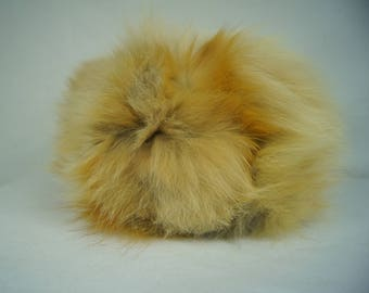 Vintage Genuine Fox Fur Hat - Pillbox Fur Hat -  Size Small/Medium - Simpsons Furs - Montreal, Canada - Soft Fox Fur - Canadian Hat Mfg. Co.