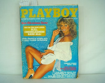 December 1978 PLAYBOY Magazine - MATURE CONTENT - Farrah Fawcey - Gala Christmas Issue - Vargas Girls Pictorial - John Travolta - 18-12
