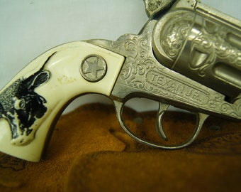 Texan JR. by Hubley Manufacturing Company - Toy Cap Gun - Kids Pretend Play Toy - Lancaster PA - Made in the USA