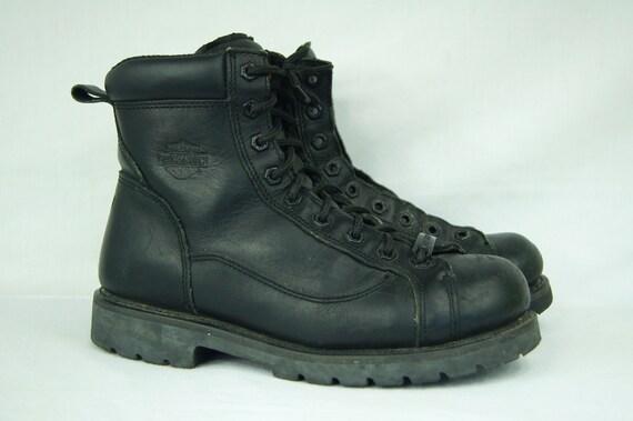 1cb8698f7f5e Black Harley Davidson Motorcycle Boots Size 10 Mens US 42