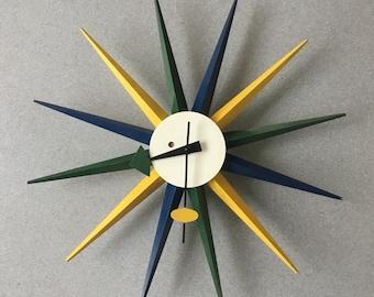 897a20a85b42 George Nelson midcentury starburst clock