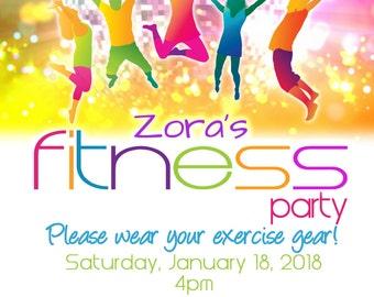 Fitness Invitation Etsy