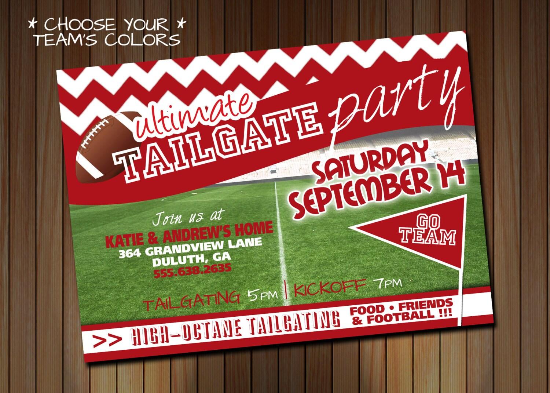 Tailgating Party Invitation Or Birthday Party Invitation Etsy