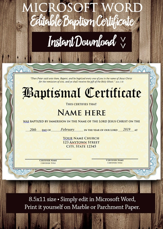 Baptism certificate template microsoft word editable file etsy image 0 maxwellsz