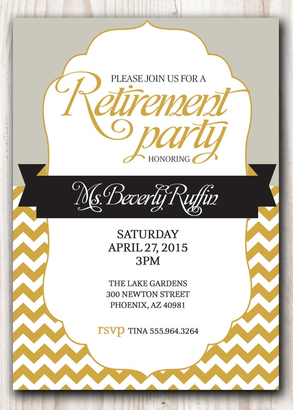 Sly image with regard to free printable retirement party invitations