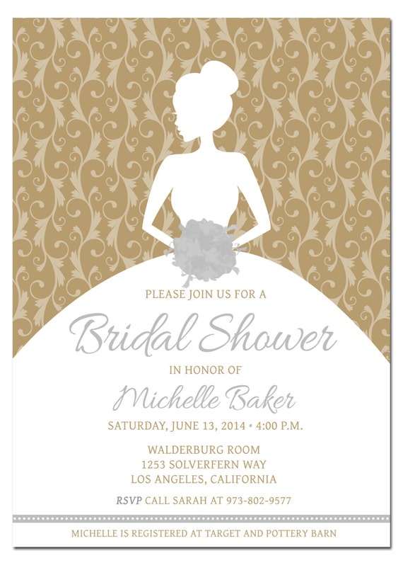 Printable Diy Bridal Shower Invitation Template With Etsy