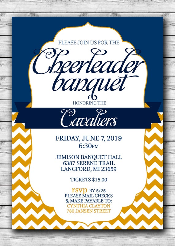 CHEERLEADER Banquet Celebration Printable Choose your team ...