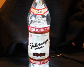 Stolichnaya Vodka Vodka with  100 LED 8 pattern lights white lights