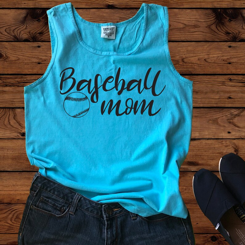 35fa2d999d970 Baseball Mom-Comfort Colors Tank- Baseball Mom-Baseball Tank-Baseball Mom  Tank -Crazy Baseball Mom - Womens Tank