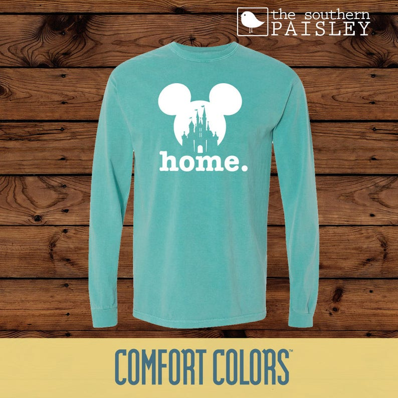 d10084c8d66 Disney Home Mickey Mouse Home Comfort Colors Long Sleeve