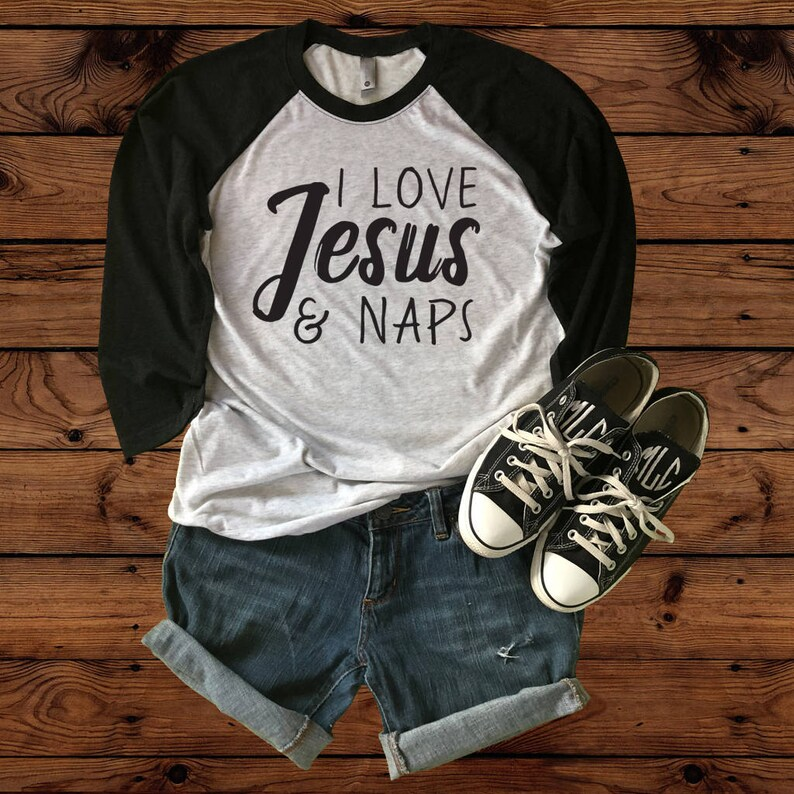 dbccbfff8 I Love Jesus & Naps Next Level Raglan T-Shirt Baseball | Etsy