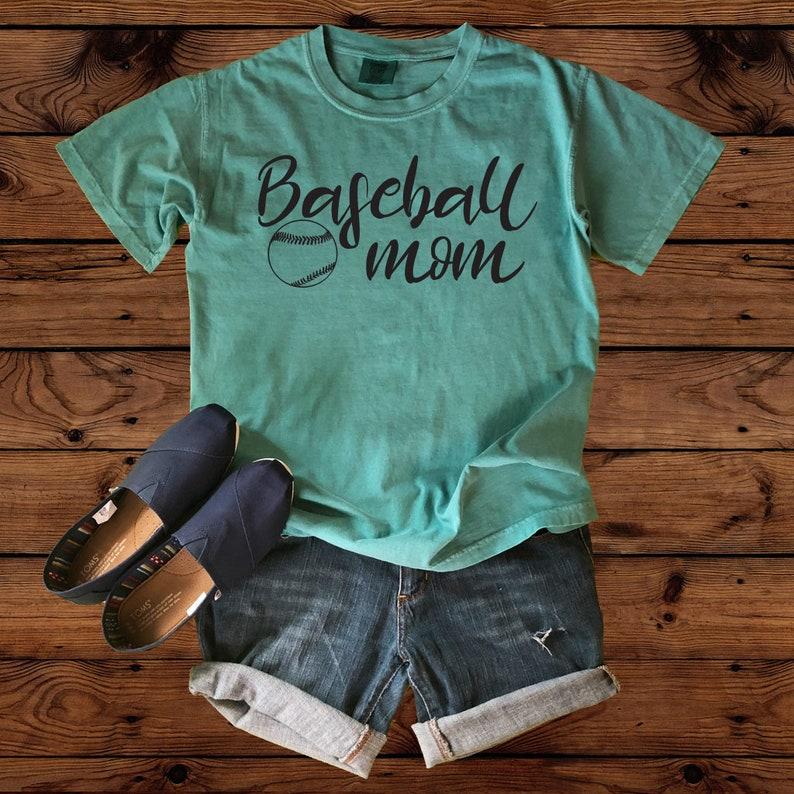 18d65e7171f22 Baseball Mom Comfort Color Shirt- Baseball Mom - Baseball Shirt - Baseball  Mom Shirt - Crazy Baseball Mom
