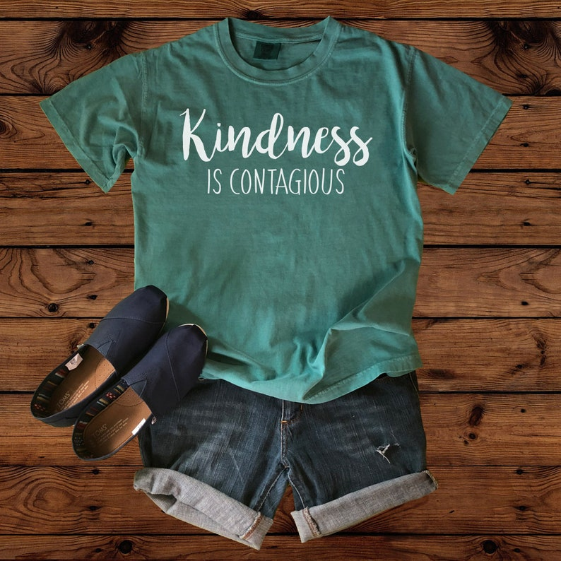 a5d2acdff Kindness is Contagious Teacher T-Shirt Comfort Colors | Etsy