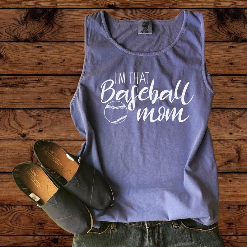 a98b2f6e25b27 Im That Baseball Mom-Comfort Colors Tank- Baseball Mom-Baseball  Tank-Baseball Mom Tank -Crazy Baseball Mom - Womens Tank