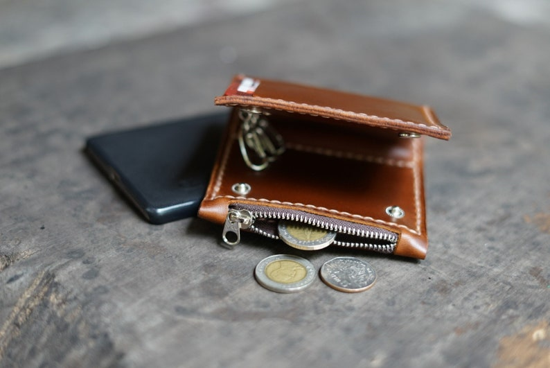 Portemonnee Met Rits.Rits Portemonnee Belangrijke Portefeuille Leather Wallet Etsy