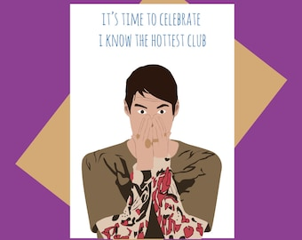 Funny greeting cards etsy stefon greeting card hottest club funny greeting card m4hsunfo
