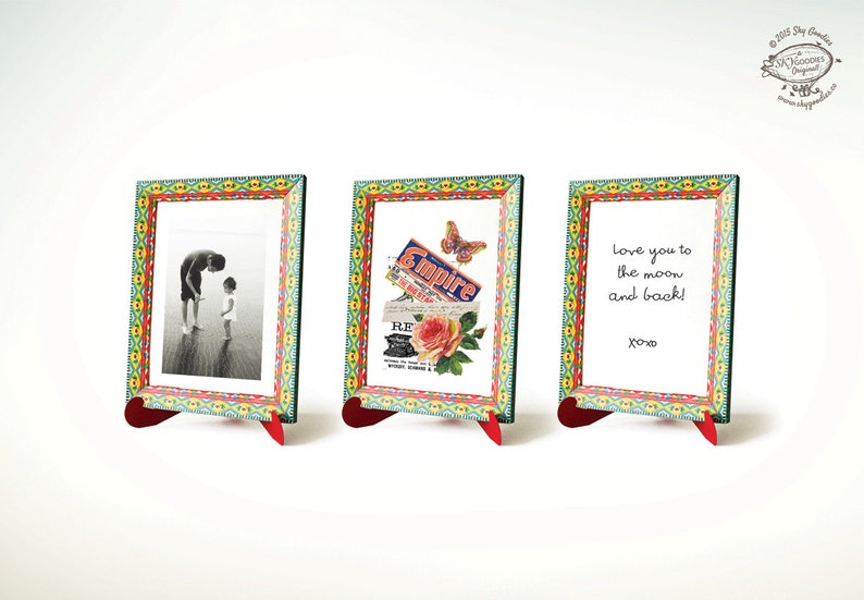 Instant digital download Printable Papercraft pdf template No sticking DIY Colorful Frame /'My Love/' message for Art or Photo