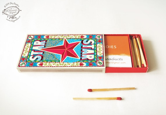 Printed diy matchbox business card or cigarette case star real printed diy matchbox business card or cigarette case star real striker strips included to light up printed pre cut pre creased from skygoodies on colourmoves