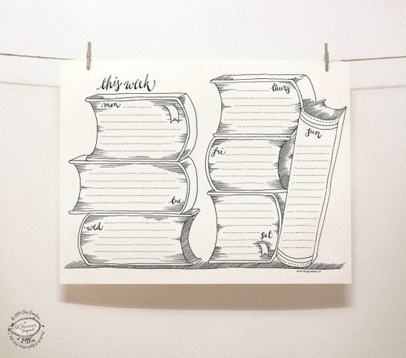 DOODLE Perpetual Weekly Planner Organizer Books Printable