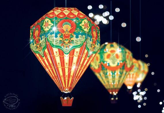 Big Diy Paper Hot Air Balloon Lamp, Hot Air Balloon Lampshade