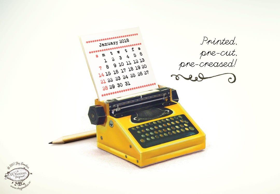 Printed Papercraft 2019 & 2020 DIY Paper Desk Calendar