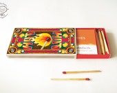 Printable DIY Matchbox Business Card or Cigarette Case: HOT | Papercraft Instant download pdf template A4 | Below 5dollar Christmas Gift